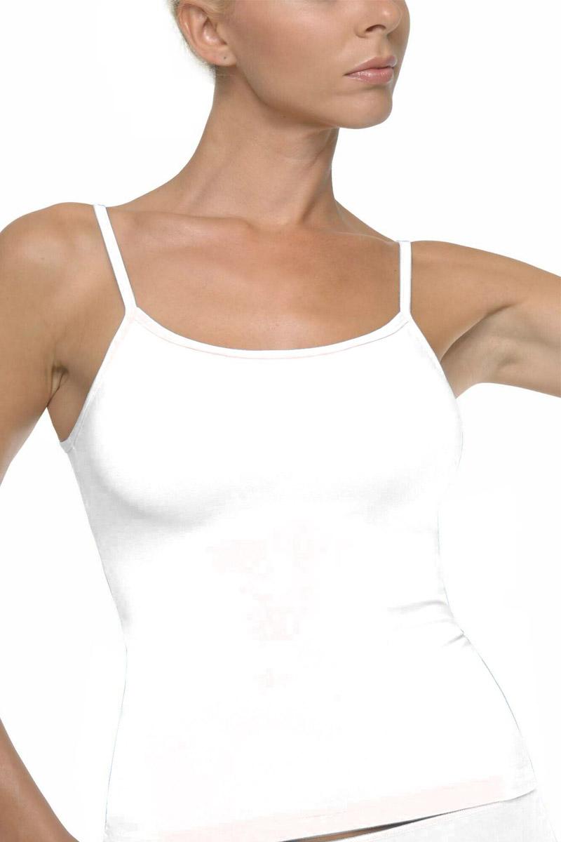 Γυναικείο Τοπ με Λεπτή Τιράντα Helios Λευκό Λευκό